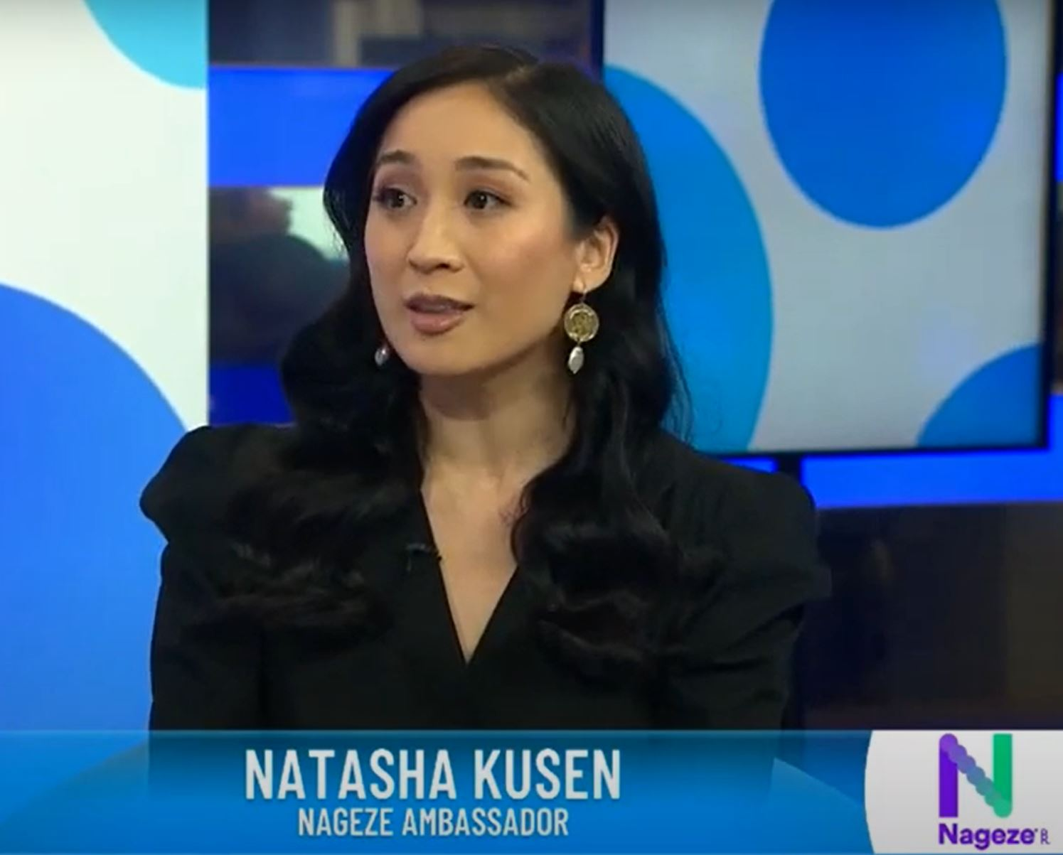 Natasha Kusen talking Nageze with Kate Albert - Studio 10