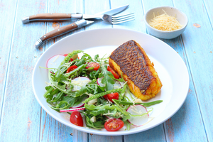 Seared Turmeric Snapper & Salad