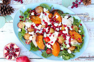 Roasted Vegetable Salad with Christmas Leftovers
