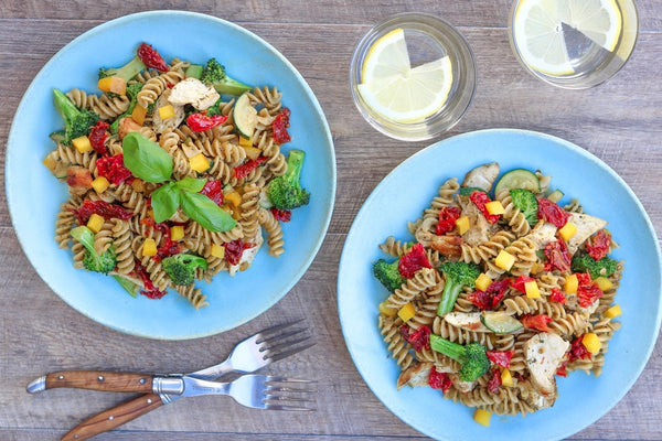Anti-Inflammatory Chicken Pesto Pasta
