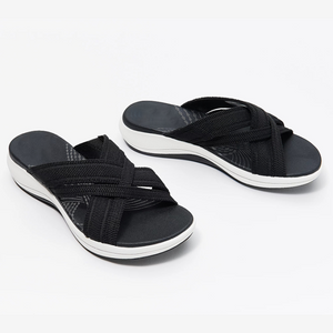 🔥Product up-gradation-Stretch Cross Orthotic Slide Sandals 🔥