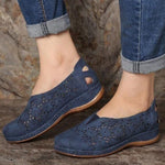 Faux Leather Elastic Comfy Women Slip On [Limited time offer: Buy 2 Save More 15%]