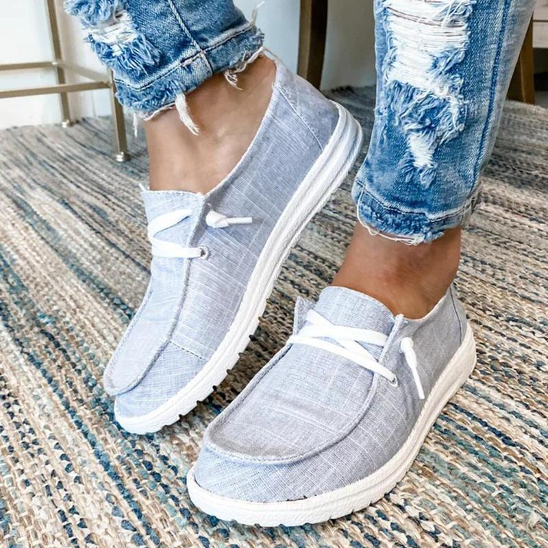 [FLASH SUMMER SALE] Women's Canvas Lace-Up Loafers