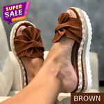 (FLASH SALE - 60% OFF) Bow-Knot slippers with thick soles platform sandals