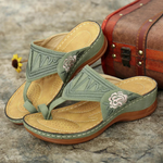 Embroidery Comfy Wedges Summer Sandals