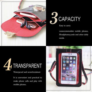 [Buy 3 Pay 2 - ONLY Today] Touchable PU Leather Mobile Phone Bag