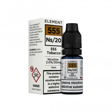 555 Tobacco NS20 by Element Liquids