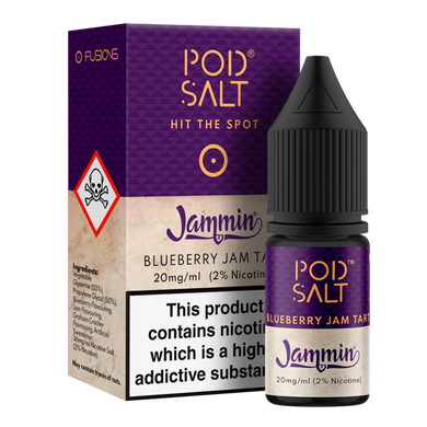 Blueberry Jam Tart NS20 By Pod Salt