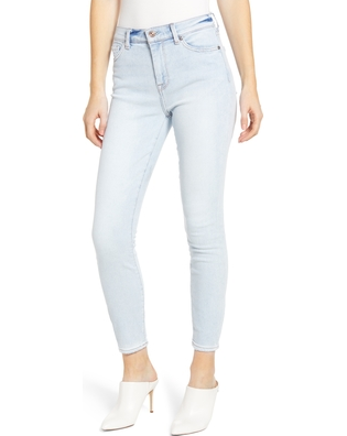 7 For All Mankind High Waist Ankle Skinny - light blue