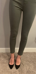 7 For All Mankind HighWaist Skinny - olive
