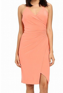 Laundry Jersey Dress with shirring - salmon
