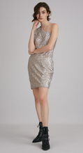 Load image into Gallery viewer, Suncoo Corey Sequin Dress - silver