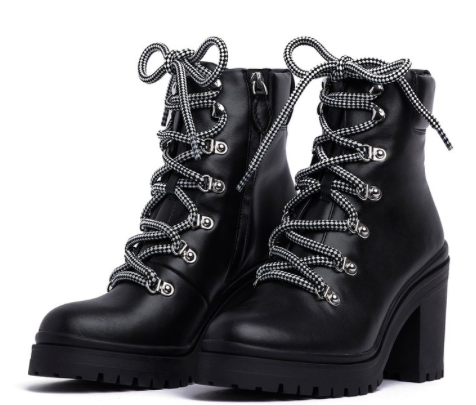 Rebecca Minkoff Maiho Lace Up Boot -black