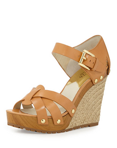 Michael Kors Somerly Wedge - peanut