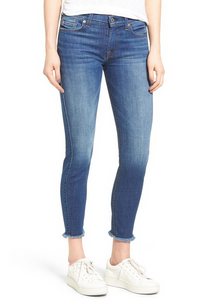 7 For All Mankind Ankle Skinny with raw hem Jean - bondi