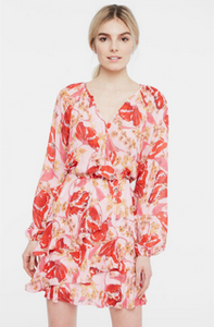 Parker Bertie Floral Dress - red multi
