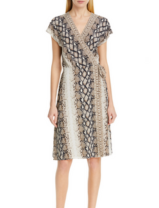 Joie Bethwyn C Wrap Dress - snake