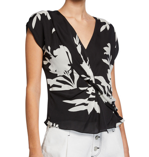 Joie Bosko Printed Top - black