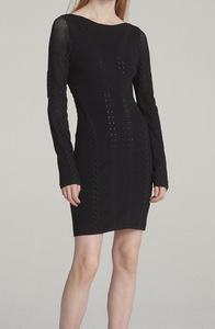Rag & Bone Brandy Knit Mini Dress - black