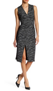 Alice & Olivia Carissa Faux Wrap Dress - black