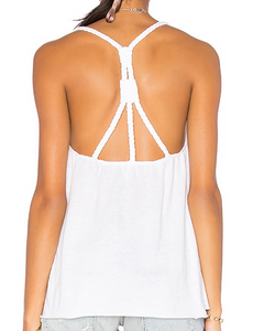 Nation Carmen Tank - white