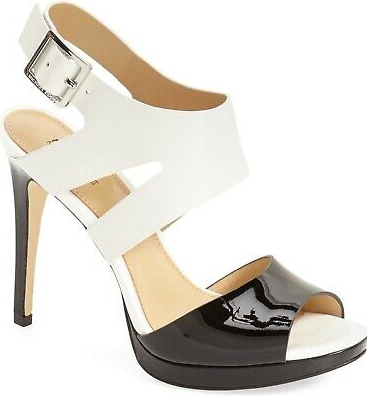 Michael Kors Claudia Sandal - black/white
