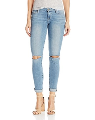 Paige Hoxton Crop Raw Hem Jean - bella destructed