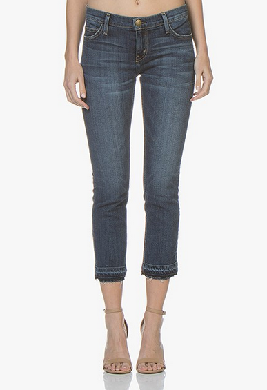 Current/Elliott Cropped Straight Jean with let out hem - loved