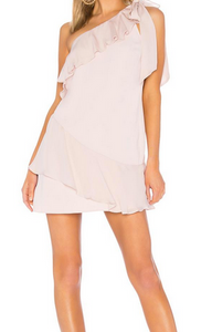 Parker Eden One Shoulder Dress - pearl blush