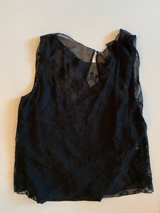 Cynthia Vincent Embelished Tank - black