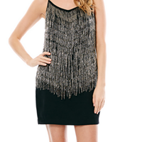 Laundry Embellished Popover Dress - black