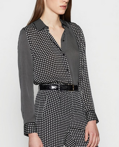 Equipment Essential Dot Blouse - black