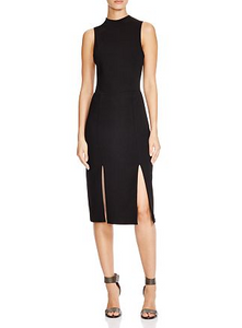 Alice & Olivia Evelin Double Slit Dress - black