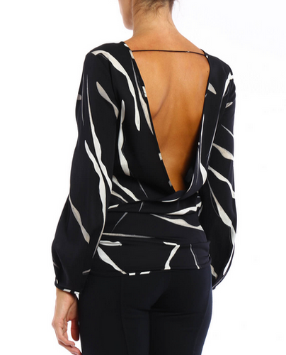 DVF Evvy V Back Top - black