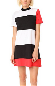 Kendall & Kylie Geo Stripe Dress - multi