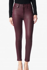 7 For All Mankind HighWaist Ankle Jean - merlot