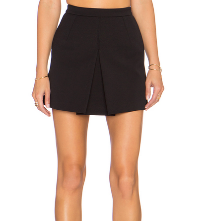Vince Inverted Pleat Skirt - black