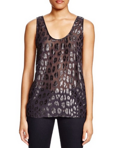 Equipment Kaylen printed Tank - black