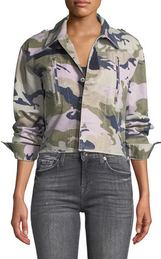 Zadig & Voltaire Kids Short Camo Jacket - multi