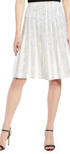 7 For All Mankind Knife Pleat Skirt - white