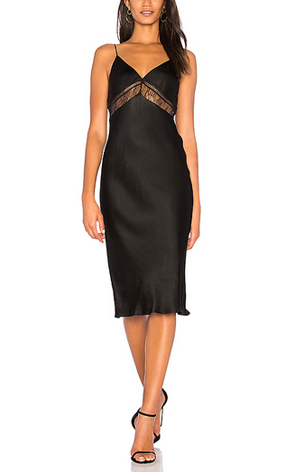 Kendall & Kylie Lace Slip Dress - black