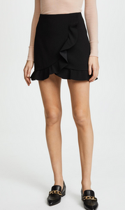 Alice & Olivia Lani Overlap Skirt - black
