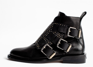 Zadig & Voltaire Lauren Flap Stud Boot - black