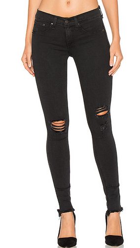 Rag & Bone Legging Jean with Holes - night