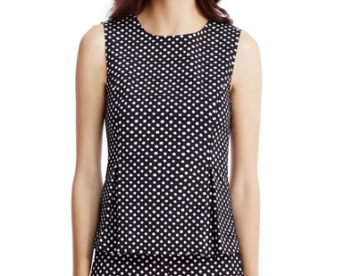DVF Mallorie Top - black/ivory