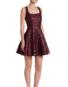 DVF MInnie LIp Dress - laquer red