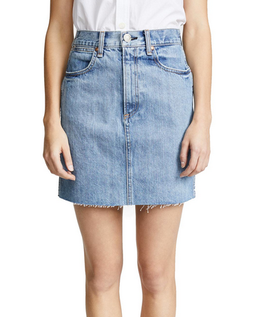 Rag & Bone Moss Jean Skirt - clean levee
