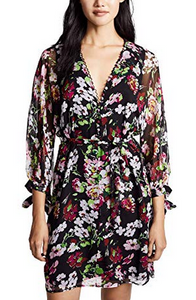 Equipment Natasha Floral Print Dress - black multi