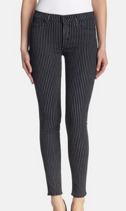 Hudson Nico Anarchy Stripe Jean - black