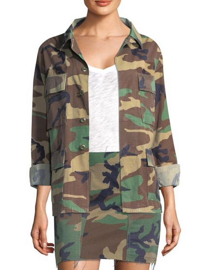 Kendall & Kylie Open Back Jacket - camo